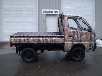 1992 Suzuki Carry 4x4 Lifted Camo Truck